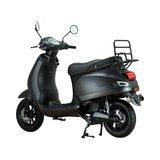 Santini e-Capri elektrische scooter matzwart linksachter