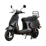 Santini e-Capri elektrische scooter matzwart linksvoor