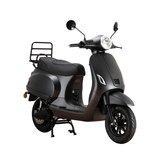 Santini e-Capri elektrische scooter matzwart rechtsvoor