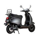Santini e-Capri elektrische scooter matzwart rechtsachter