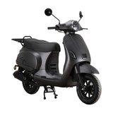 Santini Capri Digital Matzwart Metallic scooter MY2021 rechtsvoor