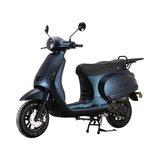 Santini Capri Digital scooter Opaco Blu Scuro matblauw linksvoor