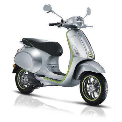 Vespa Elettrica Aluminium/Verde Groen