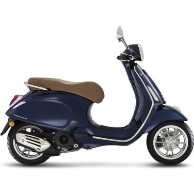 Vespa Primavera Blue met E4 I-GET