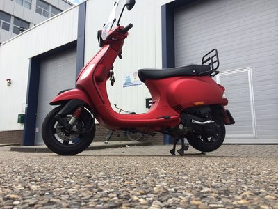 Vespa S Custom Opaco Rosso Candito