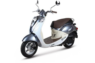 Sym Mio Silvery Blue / White scooter