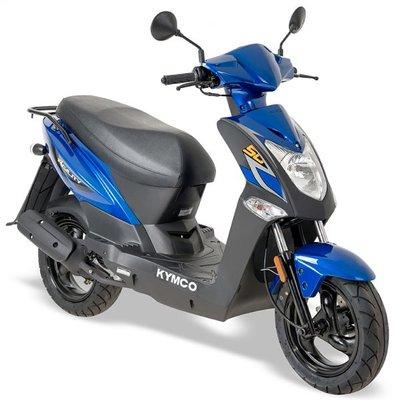 Kymco Agility FR 50 E4 Blauw Lang zadel