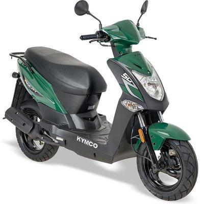 Kymco Agility FR 50 E4 groen Lang zadel