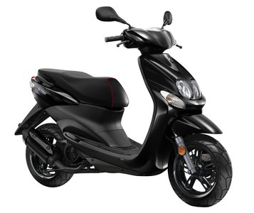 Yamaha Neos 4 Black (Zwart) scooter zijkant
