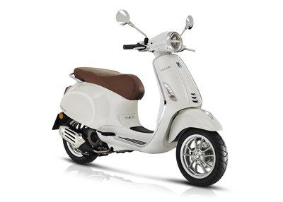 Vespa Primavera scooter Montebianco Wit E5 I-GET